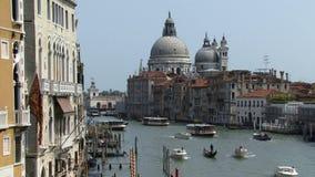 Κλασικός πυροβολισμός καναλιών της Βενετίας Ιταλία μεγάλος απόθεμα βίντεο
