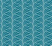 Κλασικό άνευ ραφής σχέδιο του Art Deco Γεωμετρική μοντέρνη σύσταση Αφηρημένη αναδρομική διανυσματική σύσταση Απεικόνιση αποθεμάτων