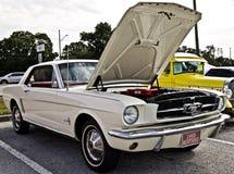 Κλασικό άσπρο αυτοκίνητο μυών μάστανγκ στοκ φωτογραφία με δικαίωμα ελεύθερης χρήσης