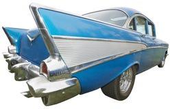 Κλασικό αυτοκίνητο, δεκαετία του '50, εκλεκτής ποιότητας πτερύγιο ουρών, που απομονώνεται Στοκ εικόνες με δικαίωμα ελεύθερης χρήσης