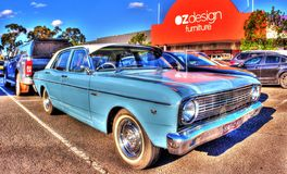 Κλασικό γεράκι 500 της Ford της δεκαετίας του '60 αυστραλιανό Στοκ Φωτογραφία