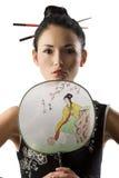 κλασικό κορίτσι ιαπωνικά &p Στοκ εικόνα με δικαίωμα ελεύθερης χρήσης
