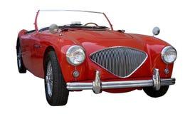 κλασικό κόκκινο αυτοκι& Στοκ Φωτογραφία