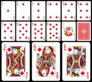 κλασικό παιχνίδι diams καρτών απεικόνιση αποθεμάτων