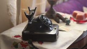 Κλασικό παλαιό τηλέφωνο σχηματισμού απόθεμα βίντεο