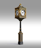 κλασικό ρολόι χαλκού workpath Στοκ φωτογραφίες με δικαίωμα ελεύθερης χρήσης