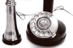 κλασικό τηλέφωνο κινηματογραφήσεων σε πρώτο πλάνο στοκ φωτογραφία