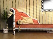 κλασικό ύφος καναπέδων απεικόνιση αποθεμάτων