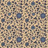 κλασικό floral πρότυπο άνευ ραφ Στοκ Εικόνες