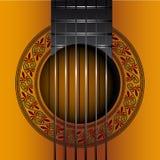 Κλασικό gitar EPS κάλυψης λευκωμάτων διανυσματικό αρχείο απεικόνιση αποθεμάτων
