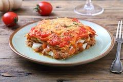 Κλασικό Lasagna με την από τη Μπολώνια σάλτσα Στοκ φωτογραφίες με δικαίωμα ελεύθερης χρήσης