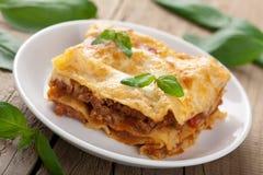 Κλασικό lasagna bolognese Στοκ Εικόνες