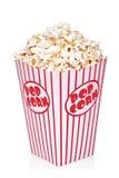 κλασικό popcorn κιβωτίων κόκκιν&o Στοκ φωτογραφία με δικαίωμα ελεύθερης χρήσης