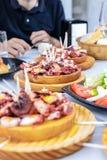Κλασικό Pulpo ένα Λα Gallega με τις πατάτες Στοκ φωτογραφία με δικαίωμα ελεύθερης χρήσης