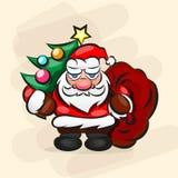 Κλασικό Santa στο κόκκινο κοστούμι Στοκ εικόνες με δικαίωμα ελεύθερης χρήσης
