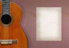 κλασσική κιθάρα Στοκ φωτογραφία με δικαίωμα ελεύθερης χρήσης
