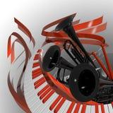 κλασσική μουσική κάλυψης ελεύθερη απεικόνιση δικαιώματος