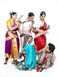 κλασσικοί χορευτές Ινδό Στοκ Εικόνες