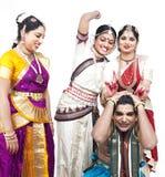 κλασσικοί χορευτές Ινδός Στοκ Εικόνες