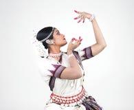 κλασσικός χορευτής θηλυκός Ινδός στοκ φωτογραφία