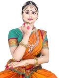 κλασσικός χορευτής Ινδί& Στοκ Φωτογραφία