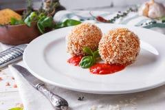 Κλασσικό ιταλικό arancini Στοκ Εικόνα