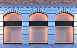 κλασσικό κενό storefront απεικόνιση αποθεμάτων