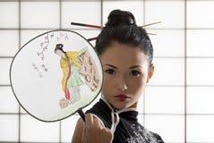 κλασσικό κορίτσι ιαπωνι&kap Στοκ Εικόνα