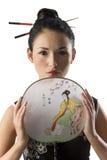 κλασσικό κορίτσι ιαπωνι&kap Στοκ φωτογραφία με δικαίωμα ελεύθερης χρήσης