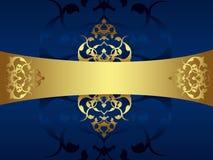 κλασσικό χρυσό αναδρομικό ύφος σχεδίου Στοκ Φωτογραφία