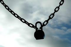 κλείδωμα αλυσίδων Στοκ Φωτογραφία