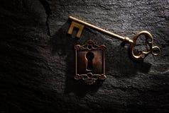 Κλείδωμα και πλήκτρο στοκ φωτογραφία με δικαίωμα ελεύθερης χρήσης