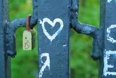 κλείδωμα καρδιών Στοκ Φωτογραφία