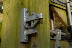 κλείδωμα πυλών Στοκ φωτογραφία με δικαίωμα ελεύθερης χρήσης