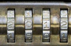 κλείδωμα συνδυασμού του 2012 Στοκ Φωτογραφίες