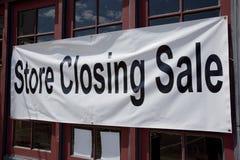 κλείνοντας κατάστημα Στοκ Εικόνα