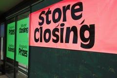 κλείνοντας κατάστημα Στοκ Φωτογραφίες
