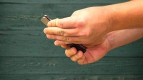 Κλείνοντας μαχαίρι απόθεμα βίντεο