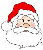 κλείσιμο του ματιού santa Claus ελεύθερη απεικόνιση δικαιώματος