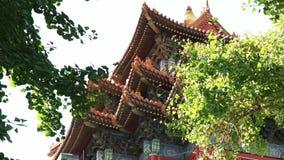 Κλείστε αυξημένος ενός πύργου στην απαγορευμένη πόλη, Πεκίνο απόθεμα βίντεο