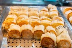 Κλείστε αυξημένος πολλοί το ταϊβανικό ατμός-τηγανισμένο baozi στοκ εικόνες με δικαίωμα ελεύθερης χρήσης