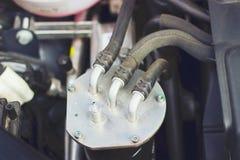 Κλείστε αυξημένος της μηχανής αυτοκινήτων στοκ φωτογραφίες με δικαίωμα ελεύθερης χρήσης