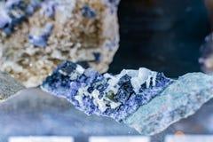Κλείστε αυξημένος του βράχου μεταλλευμάτων στα ορυχεία Glengowla στοκ φωτογραφία
