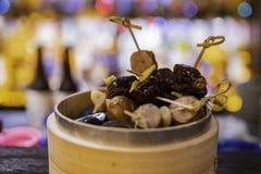 Κλείστε αυξημένος του κινεζικού λουκάνικου ατμού στοκ εικόνες