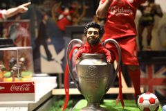 Κλείστε αυξημένος Salah στον αριθμό δράσης στοκ φωτογραφίες