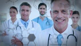 Κλείστε ενός χαμόγελου ιατρικών ομάδων