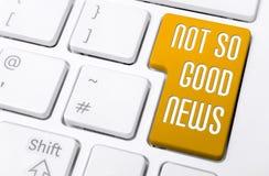 Κλείστε επάνω ενός πληκτρολογίου με τις πορτοκαλιές καλές ειδήσεις κουμπιών όχι τόσο Στοκ εικόνα με δικαίωμα ελεύθερης χρήσης