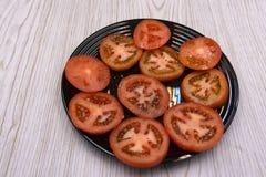 Κλείστε επάνω πολλών χωρίζει σε τετράγωνα την ντομάτα Στοκ φωτογραφία με δικαίωμα ελεύθερης χρήσης