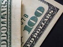 Κλείστε επάνω την άποψη του τραπεζογραμματίου δολαρίων στοκ φωτογραφίες με δικαίωμα ελεύθερης χρήσης