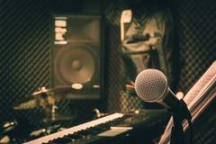 Κλείστε επάνω την έννοια υποβάθρου μουσικής οργάνων Στοκ Εικόνα